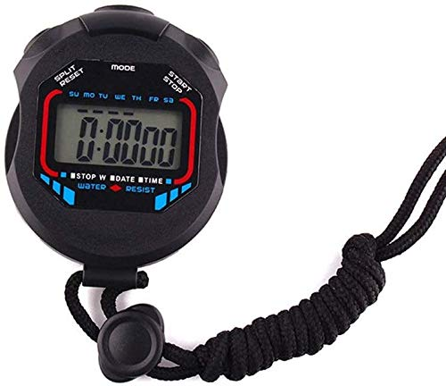 PULLEY Wasserdichte Stoppuhr elektronische Stoppuhr wasserdichte Stoppuhr für Schwimmen Laufen Outdoor Sport 7,5 x 6,0 x 1,8 cm