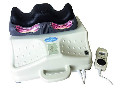 chi-enterprise Chi Vitalizer Deluxe I Chi-Massage-Gerät mit Magnetfeld - Vibration - Infrarot I sehr leise u. robust I weich gepolsterte Fuß-Auflage I baugl. Paradigma Royal I Qualitäts-Chi-Gerät