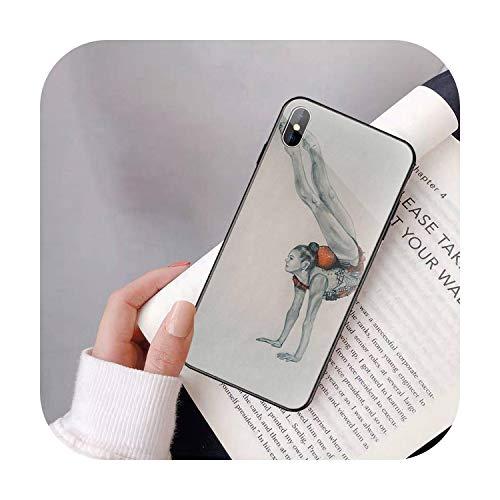 SUSUSUSU Peinture Ruban de Couleur de Gymnastique Mouvement PhoneCover pour iPhoneXR XSMAX X 7 8 6SPlus 11 11Pro 11Pro Max Verre