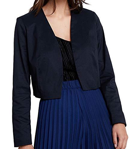 ESPRIT Collection Damen 999EO1G801 Anzugjacke, Blau (Navy 400), (Herstellergröße: 34)