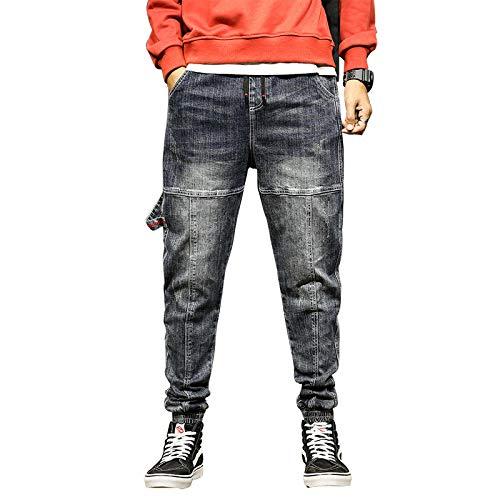 Vaqueros para Jeans Pantalones Mens Jeans Joggers Pantalones Diseñador De Moda Baggy Tapered Loose-Fit Streetwear Moto Jeans Casual Denim Jogger Pants Plus Size 38 Blue