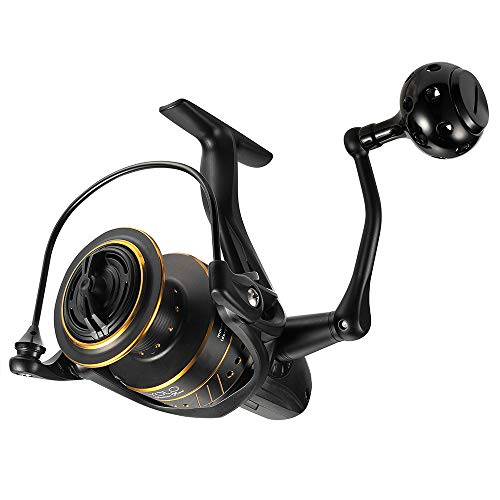 Dr.Fish Spinning Reel for Saltwater and Freshwater 9+1 Shield Stainless Steel Carbon Fiber Drag Corrosion Resistant Body 2000,5.1:1 Bass Trout Salmon