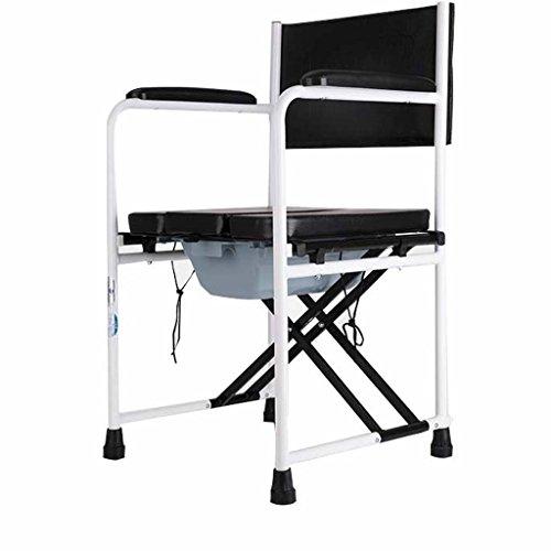 Guo Shop- Chaise de toilette en alliage d'aluminium fauteuil roulant handicapé Chaise de bain enceinte Convient pour bathroom53 * 44 * 87cm Salle de bain Tabourets