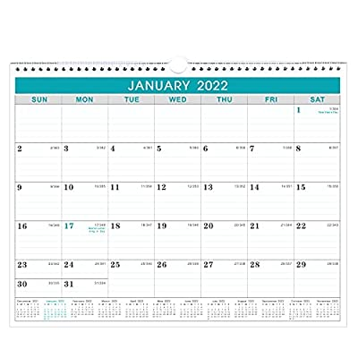 2020-2021 Calendar - 18 Months Wall Calendar with Julian Date, Thick Paper Perfect for Organizing & Planning, July 2020 - December 2021, 14.75 x 11.5 Inches, Wire-Bound