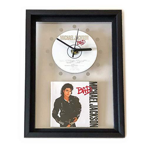 MICHAEL JACKSON - Bad: GERAHMTE CD-WANDUHR/Exklusives Design