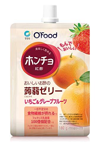 ホンチョ蒟蒻ゼリー いちご&グレープフルーツ(10袋) 飲むお酢 ホンチョ こんにゃくゼリー 蒟蒻ゼリー