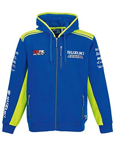 Suzuki MotoGP Ecstar Team - Sudadera con Capucha, Color Azul y Amarillo neón