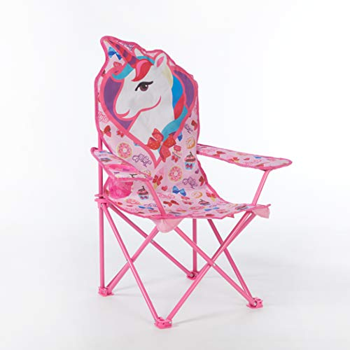 Idea Nuova Nickelodeon JoJo Siwa Figural Camp Chair for Kids, Indoor/Outdoor Use, Ages 3+