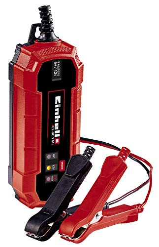 Einhell Un cargador de baterías CE-BC 1 M (cargador de baterías inteligente con control por microprocesador para los más distintos tipos de baterías, corriente de carga máx. 1 amperio)