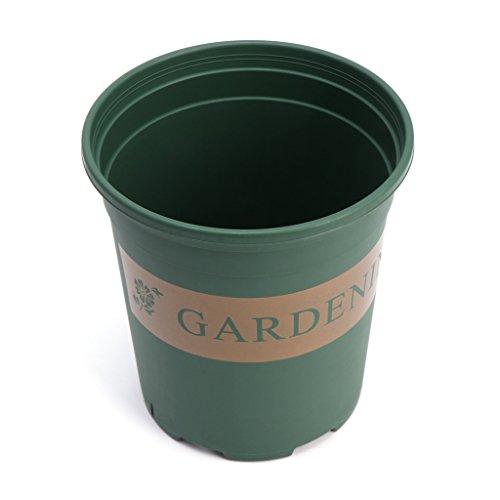 CADANIA 1,5 Gallon en Plastique Ronde pépinière Pot Pack Fleur légume Plante jardinière