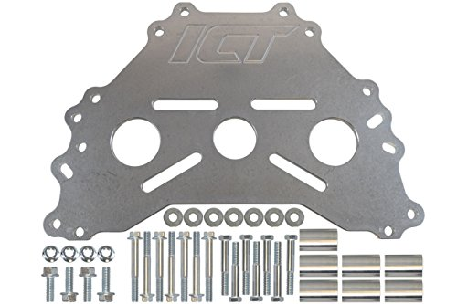 ICT Billet Engine Safe - Stand Adapter Plate Compatible with Ford BBF SBF Modular Coyote Heavy Duty Saver 551869