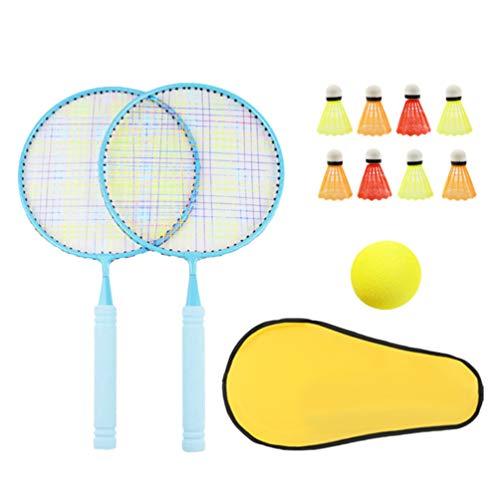 STOBOK 1 Satz Kinder Federballschläger Outdoor Sport Spiel Set Geschenk für Kinder Blau