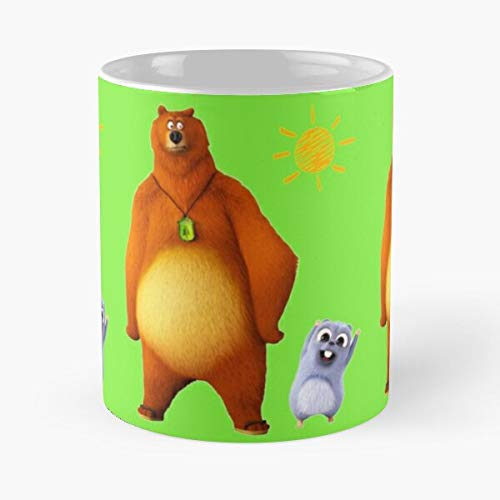 TV Bear Patrol Paw Birthday Cocomelon and Youtube Baby Happy Grizzy Kids Taza de café con Leche 11 oz