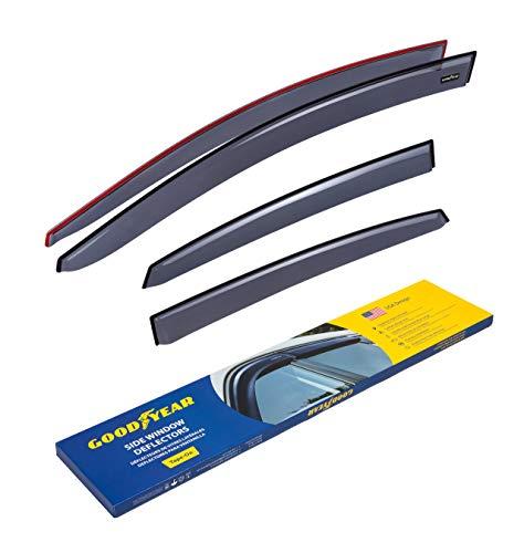 Goodyear Side Window Deflectors for Nissan Sentra 2013-2019 Sedan, Tape-on Rain Guards, Window Visors for Cars, Vent Deflector, Vent Visor, Car Accessories, 4 pcs- GY003127