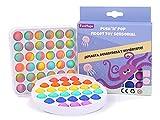 FunHaps Pop it Fidget Toy Pack 2u - Juguete antiestres Relajante para niños, Juguetes sensoriales Divertidos Push Pop Bubble de explotar Burbujas, Pop it antiestres para aliviar ansiedad