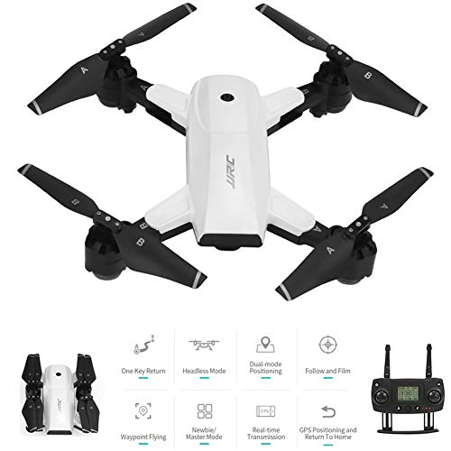 B&H-ERX 5G WiFi FPV Drone with 1080P Wide Angle HD Camera GPS Dual Mode Positioning Foldable Quadcopter RTF for Beginners Best Christmas Birthday Gifts for Friends Kids,White