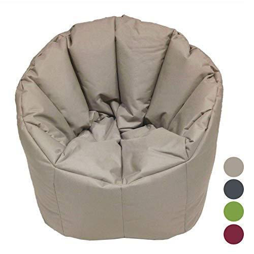 Casamia PREMIUM Sitzsack Bamba pflegeleicht ø 60 H 70 cm formstabil waschbar Sessel Top Qualität Farbe beige - taupe