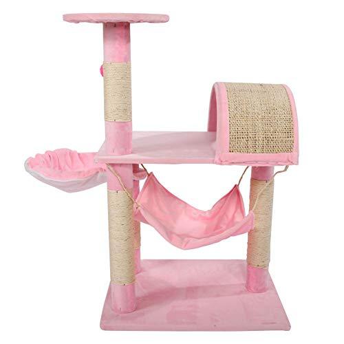 Bulary Rosa Gatto Albero con sisal-Covered tiragraffi Cat mobili per Gattini Agnello
