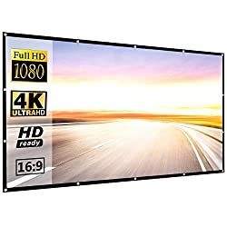 powerful Projection Screen 120inch 16: 9 HD Anti-Wrinkle Foldable Portable Projection Screen for Home Theater…