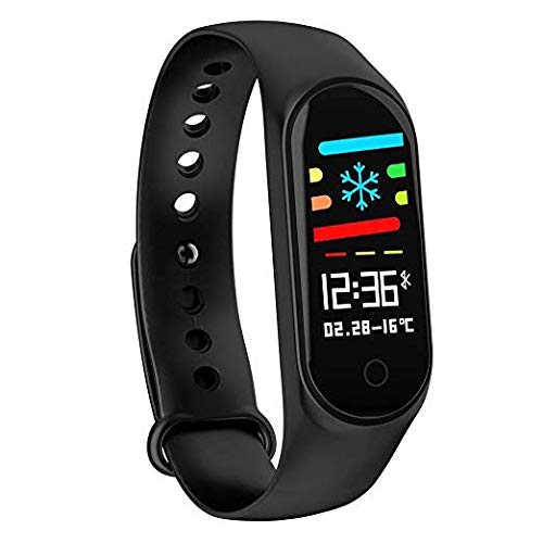 SBA999 DM4 Bluetooth Wireless Smart Fitness Band for Boys/Men/Kids/Women | Sports Watch Compatible with Xiaomi, Oppo, Vivo Mobile Phone | Heart Rate and BP Monitor, Calories Counter