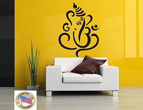 Adhesivo decorativo de vinilo para pared con diseño de Buda de la India, para decoración del hogar, yoga, Ganesha, elefante, budista de la India