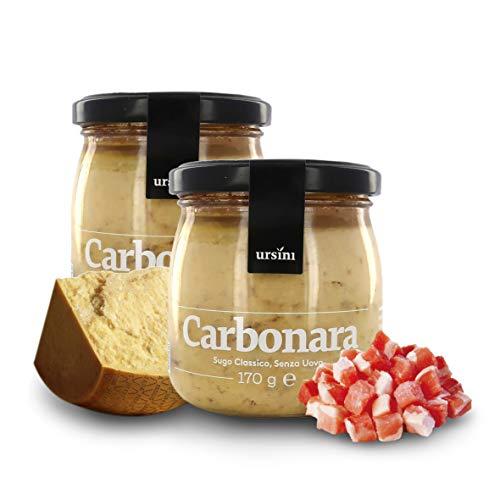 Ursini Salsa carbonara sin Huevo, Salsa Gourmet para Pasta -