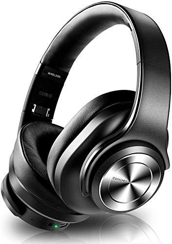 Auriculares Cancelación de Ruido Bluetooth, Over Ear Inalámbricos con Micrófono, Altavoces Duales de 40mm HD, HiFi, Graves Profundos, Carga Rápida Tipo C, 30H, para Phone, PC