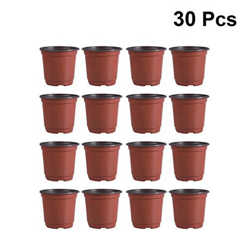 DOITOOL 30 Stück Kunststoff Pflanztöpfe Anzucht Klein Anzuchttöpfe Plastik Blumentopf 15cm Rund Kunststoff Anzuchttöpfe für Pflanzen Blumentöpfe für Sämlinge & Stecklinge (Durchmesser 150 mm)