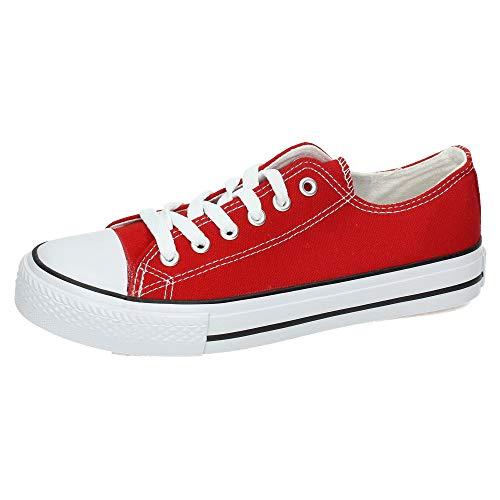 DEMAX 7-A1612F-12 Zapatillas DE Lona Mujer Zapatillas Rojo 39