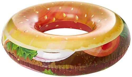 Cadeaux et Concepts Gc0116 Gonflable Bague Hamburger Épaisseur 20si 118 cm, Multicolore