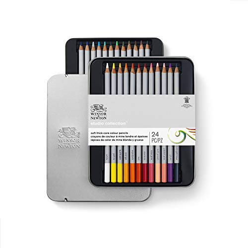 Winsor & Newton Colores, Multicolor, 24 lápices