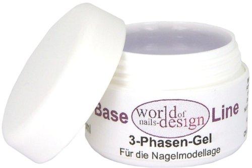 World of Nails-Design 3 Phasen UV-Gel mittelviskose 30 ml, 1er Pack (1 x 30 ml)