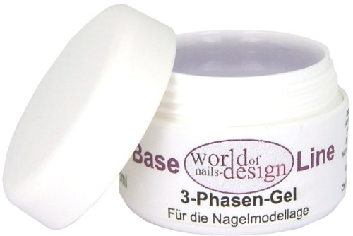 World of Nails-Design, Gel modellante trifasico UV per unghie, media viscosità, 30 ml