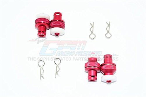 GPM Aluminium Front & Rear Magnetic Body Mount For Traxxas TRX-4 Tactical Unit Body - 4Pc Set Red