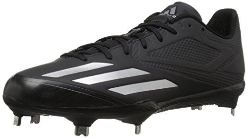 adidas Men's Adizero Afterburner 3 Baseball Shoe, Black/Silver Metallic/Silver Metallic