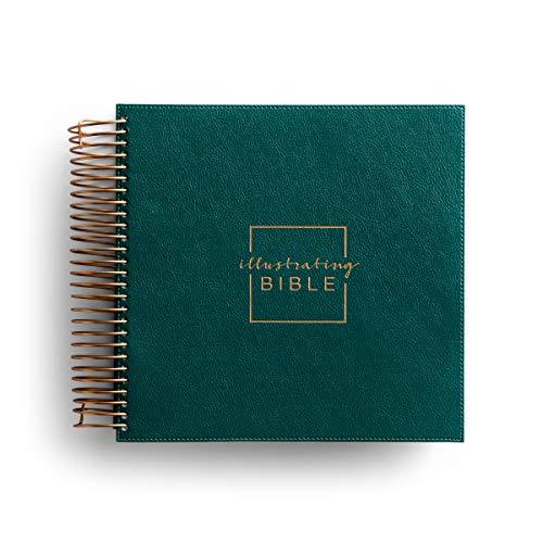 Illustrating Bible CSB Green (Spiral Bound Journaling Bible)