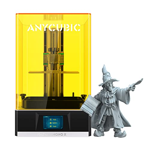ANYCUBIC Impresora 3D Photon Mono X, impresora UV LCD de resina con pantalla monocromática y 4K 3X Impresión rápida, aplicación de control remoto de control, impresión Tamaño 192x120x250mm