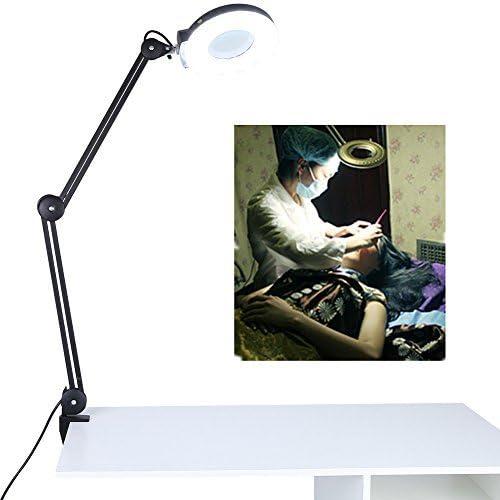 開催中 5X 8X Desk Magnifier Lamp Ma 新作送料無料 Table Swivel Adjustable Clamp
