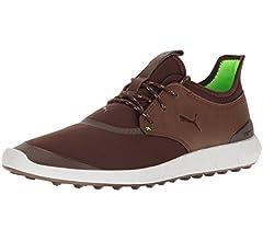 PUMA Golf Men's Ignite Spikeless Sport Shoes, Black Silver, 11.5 Medium US