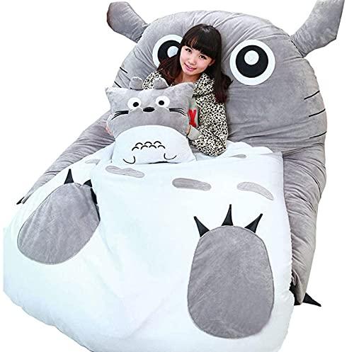 ASDHJ Colchón Tatami Totoro Bolsa de Dormir Perezoso Sofa Cama, Tatami - Colchoneta para Cama, para Dormitorio o Dormitorio, Plegable,...