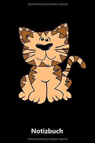 Notizbuch: Tiger Katze lustig | Katze Kätzchen Haustier Liebhaber Geschenk | für Notizen, Skizzen, Zeichnungen, als Kalender oder Tagebuch (A5 | liniertes Papier | Soft Cover | 100 Seiten)