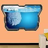 Pegatinas de pared - ICEBERG BAJO EL AGUA PEGATINA DE PARED EFECTO CARTEL DE ARTE DECORACIÓN DE HABITACIÓN MURAL - 3D - arte mural - 50x70cm