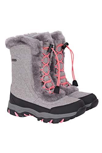 Mountain Warehouse Botas de Nieve para jóvenes de Ohio - Botas para niños Transpirables, Impermeables y de Secado rápido - para Vacaciones de Invierno - niños y niñas