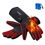AIPER Heated Gloves for Men and Women, Touchscreen Texting Water-Resistant Rechargeable Battery Powered Thermal Hand Warmer Glove Liners for Climbing Hiking Cycling (Battery Included) (XXL)