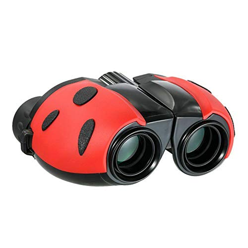 TWW Binoculares para niños, niñas y niños, Gran Aumento, Alta definición, pupilas portátiles pequeñas, telescopios Que no Son de Juguete,Rojo