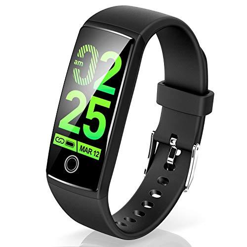 Semiro スマートブレスレット カラースクリーン 最新版 スマートウォッチ 活動量計 歩数計 血圧計 心拍計 ...