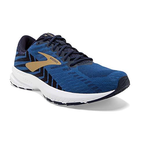 Brooks Mens Launch 6 Running Shoe - Peacoat/Blue/Gold - D - 10.0