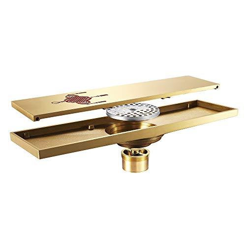 Drain de plancher en laiton de couleur or pour drain de filtre de salle de bains