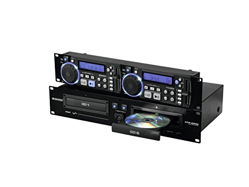 Omnitronic XCP-2800 HiFi CD Player - Unidad de CD (70 dB, 0,09%,...