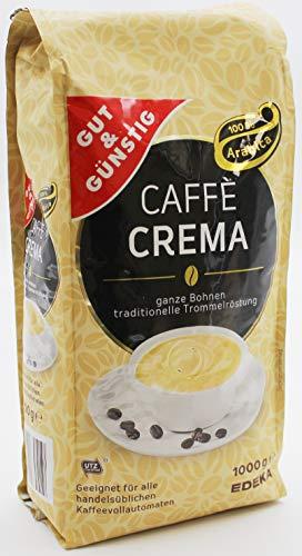 Gut und Günstig Caffe Crema ganze Bohnen, 8er Pack (8 x 1 kg)